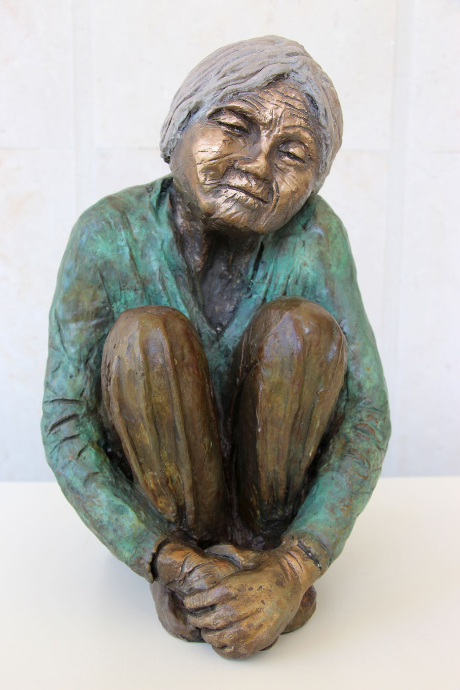 Chinese couple - woman | Bronze | H-35 , 22 / 23 cm