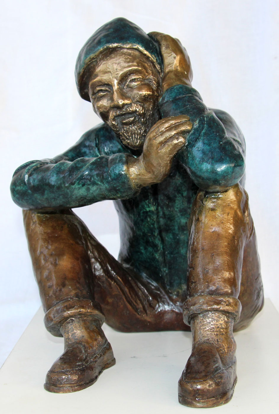 Chinese couple - man | Bronze | H -36 , 26 /32 cm